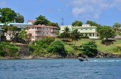 L'isola pittoresca di Santa Lucia nelle Antille Fotografie Stock