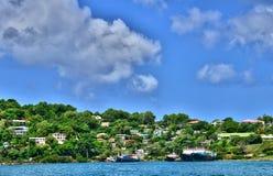 L'isola pittoresca di Santa Lucia nelle Antille Fotografia Stock Libera da Diritti