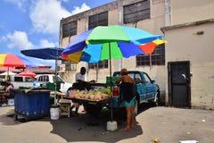 L'isola pittoresca di Santa Lucia nelle Antille Fotografia Stock