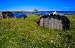 L'isola santa di Lindisfarne Fotografia Stock