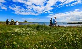 L'isola santa di Lindisfarne Immagini Stock Libere da Diritti
