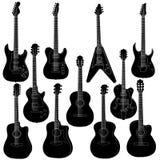 Insieme di vettore della chitarra Fotografia Stock Libera da Diritti
