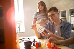 L'ispezione di qualità di 3D ha stampato il dettaglio Immagine Stock Libera da Diritti