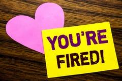 L'ispirazione di titolo del testo di scrittura della mano che vi mostra è infornata Concetto di affari per i disoccupati o scaric Immagine Stock