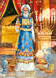l'Israël antique. Haut prêtre illustration stock