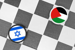L'Israël contre la Palestine images stock