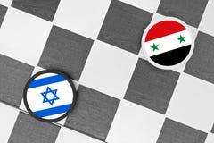 L'Israël contre la Syrie photographie stock libre de droits