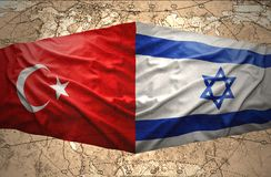 L'Israël et la Turquie Photo libre de droits