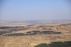 L'Israël, la zone de dégagement et la Syrie, le Golan photo libre de droits
