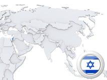 L'Israël sur la carte de l'Asie illustration libre de droits