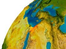 L'Israël sur le globe Images stock