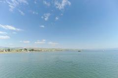 L'Israël, vue de la mer de la Galilée Image stock