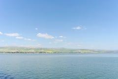 L'Israël, vue de la mer de la Galilée Photos libres de droits