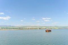 L'Israël, vue de la mer de la Galilée Photographie stock