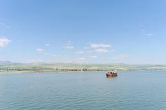 L'Israël, vue de la mer de la Galilée Photo libre de droits