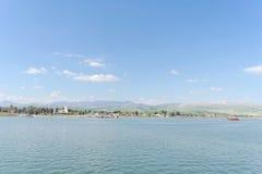 L'Israël, vue de la mer de la Galilée Photo stock