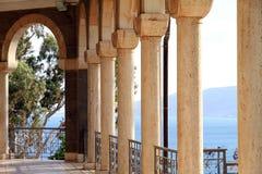 L'Israele, mare del Galilee, la chiesa delle beatitudini Fotografia Stock Libera da Diritti