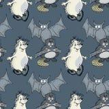 L'istrice, pipistrello, beaver il modello senza cuciture Illustrazione di Stock
