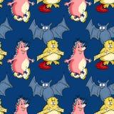 L'istrice, pipistrello, beaver il modello senza cuciture Royalty Illustrazione gratis