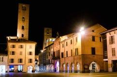 L'Italia alba, via Cavour alla notte immagine stock