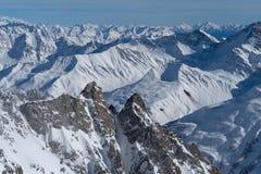 L'Italia, alpi della pennina vedute da Mont Blanc varia Fotografie Stock