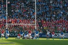 L'Italia contro il Galles, un rugby di sei nazioni Immagine Stock Libera da Diritti