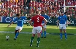 L'Italia contro il Galles, un rugby di sei nazioni Immagini Stock