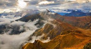 L'Italia - dolomia Mountain View da Pordoi Fotografia Stock Libera da Diritti