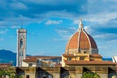 L'Italia, Firenze, duomo, torre della cattedrale fotografia stock libera da diritti
