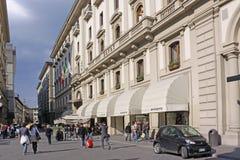 L'Italia Firenze Vista delle vie della città negozi Fotografia Stock Libera da Diritti