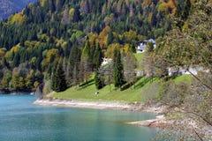 L'Italia, Friuli Venezia Giulia, lago Sauris Fotografia Stock Libera da Diritti