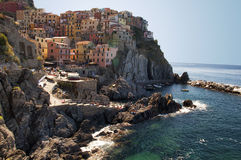 L'Italia - la Liguria - Cinque Terre - Manarola - mare Fotografia Stock