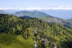 L'Italia, Piemonte. Una vista la catena montuosa delle alpi di Cottian Immagini Stock