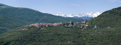 L'Italia Provincia di Imperia Villaggio antico Torria Fotografia Stock Libera da Diritti