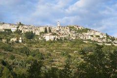 L'Italia Provincia di Imperia Villaggio medievale Triora Fotografia Stock