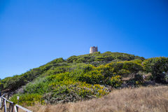 L'Italia Sardegna Torre de Chia, città Domus de Maria immagine stock libera da diritti