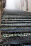 L'Italia Sicilia Caltagirone - il punto di riferimento principale della città è i 142 Di monumentali Santa Maria del Monte di Sca Fotografia Stock Libera da Diritti