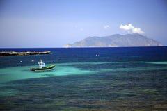 L'Italia, Sicilia, isola di Marettimo Fotografia Stock Libera da Diritti
