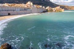 L'Italia sicily Castellammare del Golfo fotografie stock libere da diritti