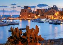 L'Italia sicily Castellammare del Golfo fotografia stock libera da diritti