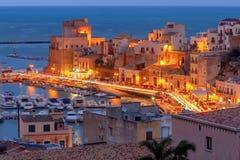 L'Italia sicily Castellammare del Golfo immagini stock libere da diritti