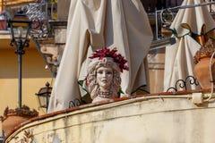 L'Italia sicily Città Taormina fotografia stock