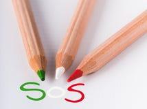 L'Italia SOS Immagine Stock Libera da Diritti