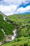L'Italia, sosta nazionale di Stelvio Strada famosa a Stelvio Pass nelle alpi di Ortler Fotografia Stock