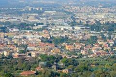L'Italia, Tivoli, la vista dal d'Este della villa Fotografia Stock Libera da Diritti