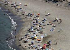 L'Italia, Toscana, spiaggia di Versilia Fotografia Stock