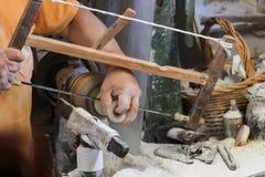 L'Italia, Toscana, Volterra, lavoro manuale dell'alabastro Fotografia Stock