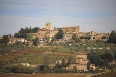 L'Italia, Toscana, zona di Chianti, Panzano nel villaggio di Chianti fotografia stock libera da diritti