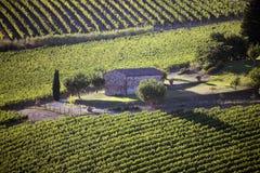 L'Italia, Toscana, zona di Chianti, villaggio di Montefioralle fotografia stock