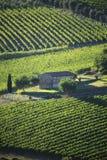 L'Italia, Toscana, zona di Chianti, villaggio di Montefioralle immagine stock